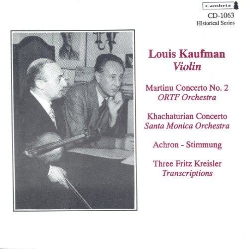 Stimmung in D Minor, Op. 32, No. 1 (arr. for violin and orchestra)