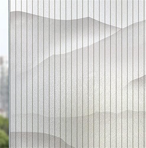 BEDJFH 3D Vinilo Película de Ventana Privacidad Pegatina Rayas Blancas -sin Adhesivo-Decorativas...