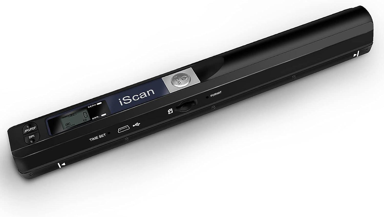 Youool Scanner portatil, 900DPI Resolution, Handheld Document Image Scanner JPG/PDF Format, High-Speed USB 2.0, Contiene Tarjeta Micro SD de 16G