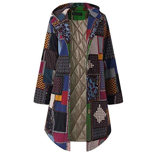 Jacke Damen Frühling Hoodies, Weant Damen Herbst Winter Mantel Kapuzenpulli Langarm Bomberjacke Baumwolle und Leinen Parka Outwear...