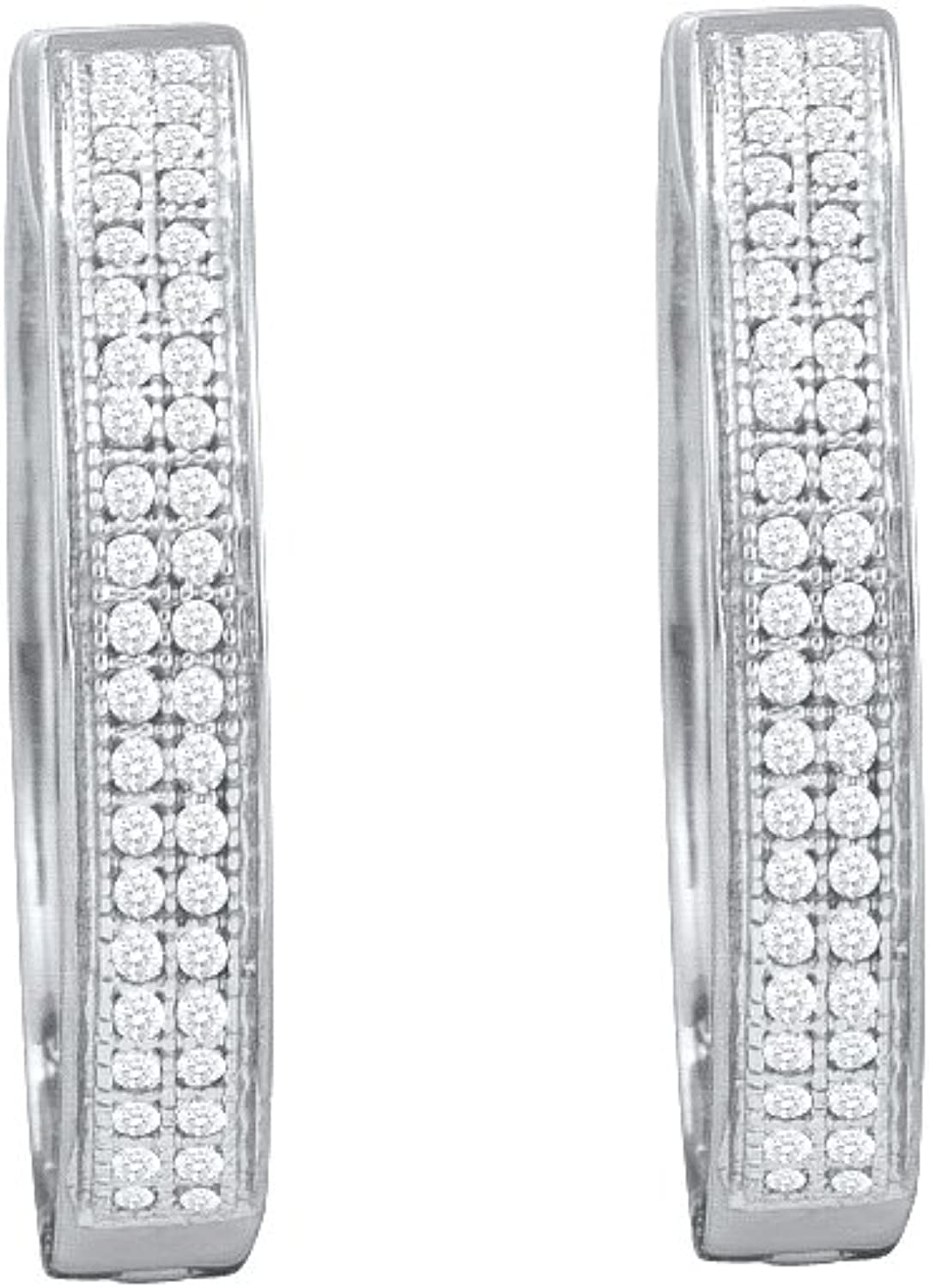 1 4 Total Carat Weight DIAMOND MICRO PAVE HOOPS