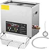 VEVOR 6L Upgraded Ultrasonic Cleaner Professional Digital Lab Ultrasonic Parts Cleaner with Heater Timer for Jewelry Glasses Cleaning(400W Heater,180W Ultrasonic)