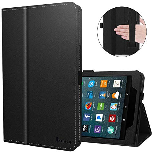 Benazcap for Kindle Fire 7 Case 2019 All-New Tablet Case Folio Stand Smart Cover for Amazon Kindle Fire 7-inch Tablet 9th Generation 2019 with Auto Sleep/Wake, Black