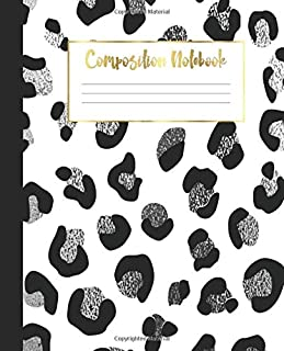 Composition Notebook: Animal Print College Ruled Notebook   Lined Journal   100 Pages    7.5 x 9.25