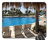 N\A Alfombrilla de ratón - Cancun Ocean Pool Beach pacífica Soledad Nadar