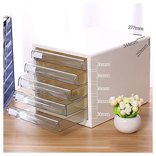 Preisvergleich Produktbild Aktenschränke SOAR File Cabinet,  5-Schicht-Desktop-Blau Kunststoff,  Schublade Typ A4 Data Display Cabinet,  File Storage Finishing Low-Schrank,  Office Data Sortierung Organizer