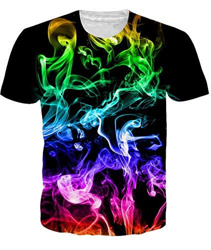 Fanient Herren Damen Aufdruck T-Shirt Rundhals Tee S M L XL XXL, Space Antelope, XL