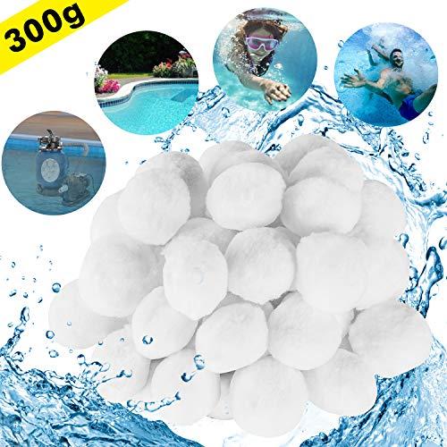 FORMIZON Filter Balls 300g Filtermaterial, Polysphere Filterbälle für Poolpumpe, ersetzen 11 kg Filtersand für Pool Sandfilter