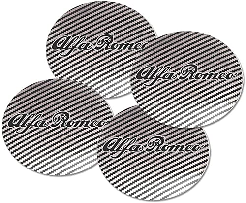 4 Piezas Tapas Centrales Rueda Para Alfa Romeo Mito Giulia Giulietta 147 155 156 159,Aluminio Coche Tapacubos Centra,Tapas Centrales De Llantas Pegatinas El óXido Con El Logo,DecoracióN Coche 56.5mm