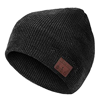 Levin Upgraded Bluetooth 5.0 Beanie Hat with Headphones - Wireless Smart Beanie Headset Musical Knit Headphone with Built-in Mic for Skiing,Skateboarding & Jogging,Gift for Men/Women/Boys/Girls black