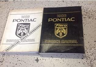 1986 Pontiac FIERO Service Shop Repair Manual Factory Set W Preliminary Book OEM