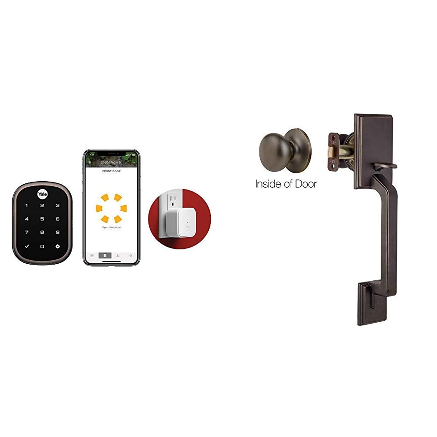 Yale Assure Lock SL Connected by August with Matching Handleset in Oil Rubbed Bronze