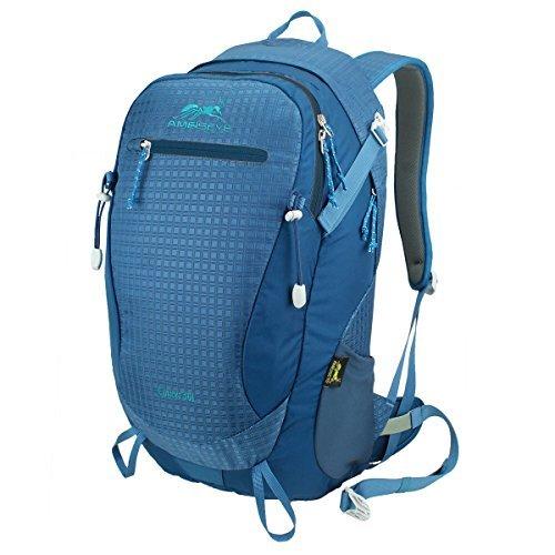 Eshow Unisex Borsa in Nylon Leggero Outdoor Sport Escursionismo Daypack zaino da viaggio Salata Camping Borsa Camminta Trekking Colore Blu 30L