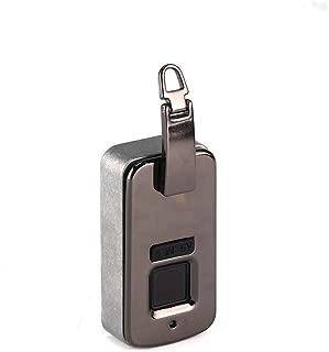 YMXLJJ Smart Fingerprint Padlock Waterproof Biometric Anti-Theft Fingerprint Backpack Lock Handbag Lock Men and Women Wallet(Black)