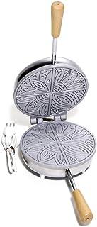 arterameeferro Fer à pizzelles électrique en aluminium ferratelle néole à éventail fine