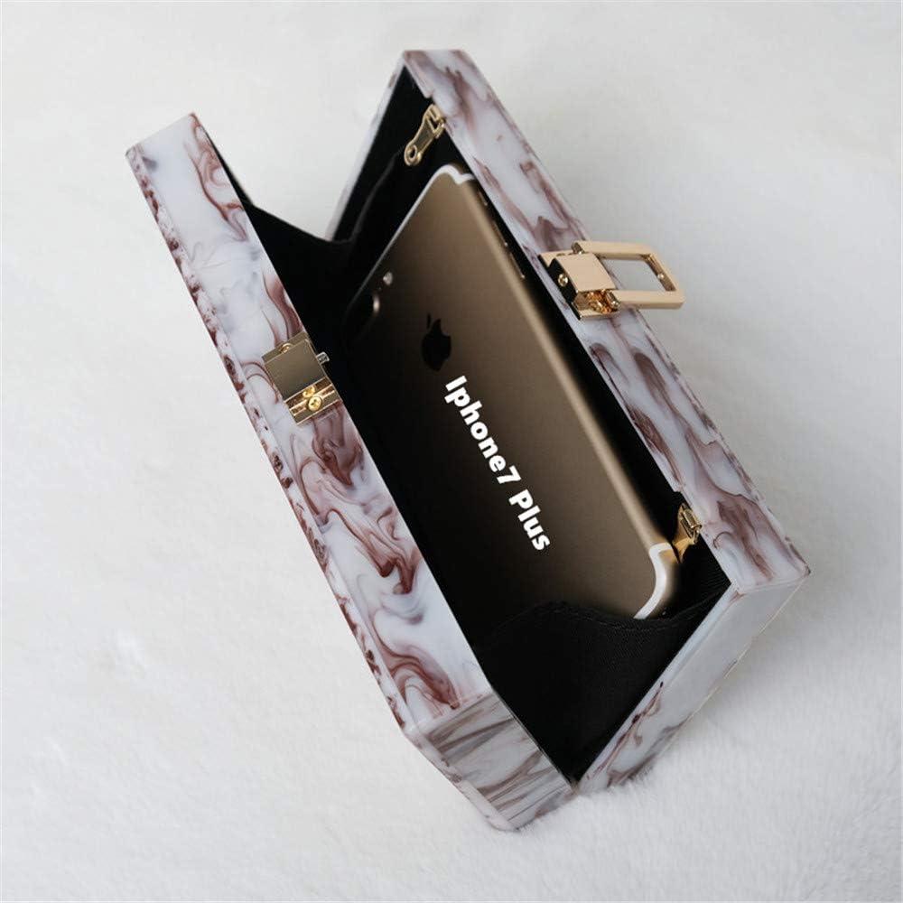 Trendy Wedding Bag Fashion Women Handbag Red Ink Print Acrylic Luxury Party Evening Bag Woman Cute Box Clutch Purse