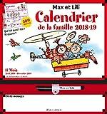 Calendrier de la famille Max et Lili 2018-2019