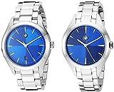 BMW Men's Quartz Watch with Stainless-Steel Strap, Silver, 20 (Model: BMW9000)