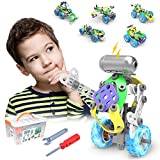 CENOVE STEM 5 IN 1 Bildungsbausteine Spielzeug für Junge, 109 Stück Konstruktionsspielzeug mit Elektromotor Geschenk für Jungen ab 5 6 7 8 Jahre