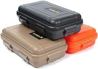 iEay 3 pièces Petite mini boîte à outils - Boîte d'étanchéité étanche à l'eau et aux chocs- Boîte de rangement pour outils...