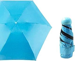 Umbrella Windproof Umbrella Folding Sun Protection Ladies Sun Sunshade Gift Mini (Color : Blue)