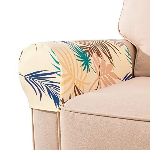 Ezoon Funda elástica para sofá con brazo de gato, antiarañazos, para sofá, silla, reposabrazos, funda protectora cuadrada, grande, de piel, para niños, muebles de jardín al aire libre, 6 unidades