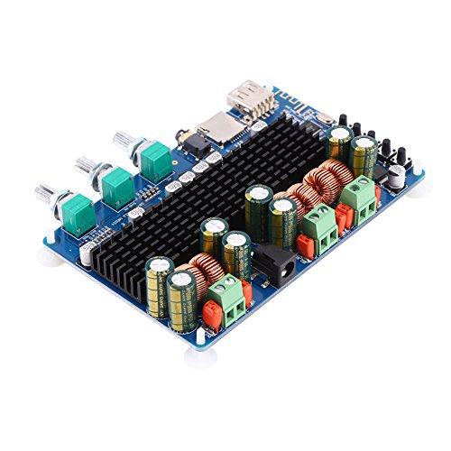 Germerse Módulo Amplificador de Potencia, Amplificador de Potencia de subwoofer de Salida de subwoofer de 100 W, Amplificador electrónico de Entrada USB TF para Sistema de Sonido de Altavoz