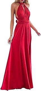 Lover-Beauty Vestido Largo Mujer para Noche y Fiesta Casual Algodón Ropa Top Falda Espalada Descubirta Dama de Honor Sexy ...