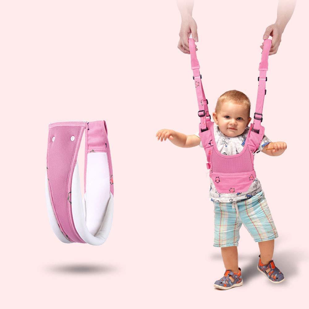 VOOADA Removable Baby Walker Assistant Toddler Leash Kids Walking Baby Belt Child Safety Harness Leash Infant Baby Moon Walk Belt (Red)