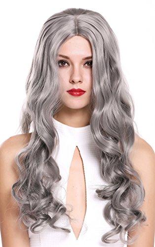 comprar pelucas largas grises on line