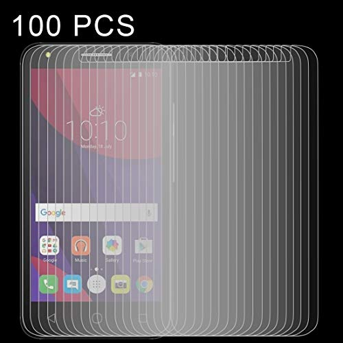 Zhangsihong película de Cristal Templado 100 PCS 0.26mm 9H 2.5D película de...