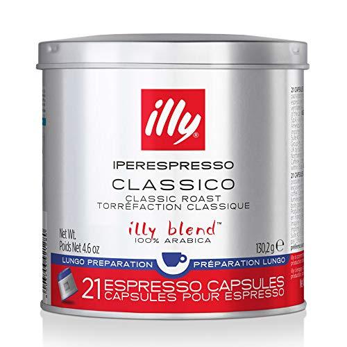 Illy caffè Iperespresso 21 Cápsulas Tueste Descafeinado 6 Pack de 21 Cápsulas