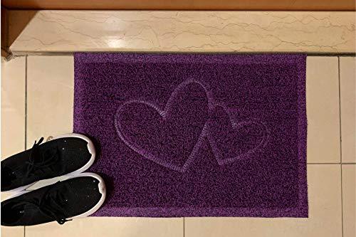 Majo Lifestyle - Alfombrillas para interiores y exteriores - Goma resistente para puerta de casa - Alfombra de baño - Regalo - Felpudo para mascotas - Felpudo de bienvenida para exteriores (lila)
