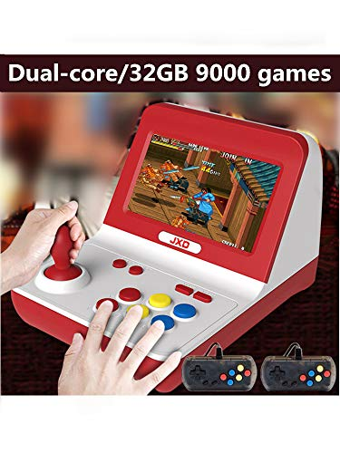 New JXD Classic Nostalgia Big Rocker Retro Mini Arcade Console Dual-core 32GB Build in 9000 Games Arcade neogeo/cp1/cp2/gbc/gb/sens/nes/smd mp3 mp4 (Black)