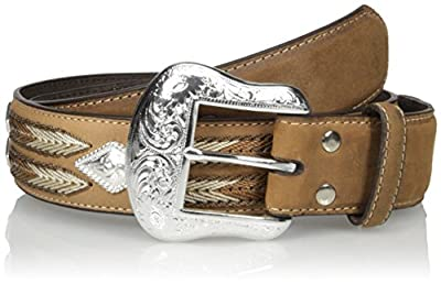 Nocona Belt Co. Men's Diamond Cncho Multi-Stitch, Medium Brown, 36