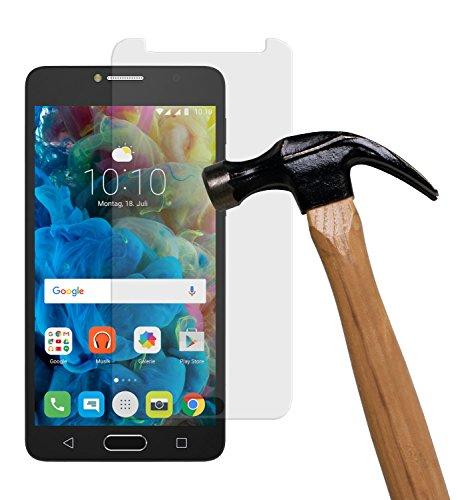 yayago Bildschirmschutzglas 0,26 MM Bildschirmschutzfolie für Alcatel One Touch Pop 4S Glasfolie Hartglas 9H (bewusst Kleiner als das Bildschirm, da Dieses gewölbt ist)