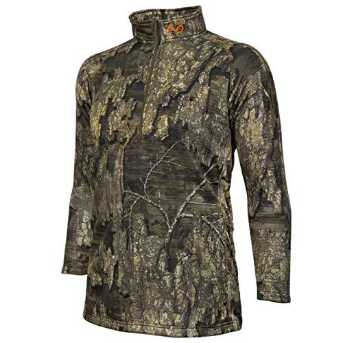 Realtree - Osprey de madera para hombre con cremallera 1/4   Ropa de caza   Soft Shell - Multi color - XX-Large