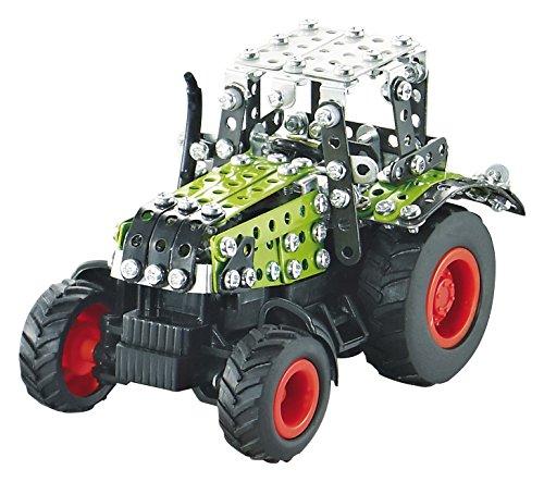 RC Traktor kaufen Traktor Bild 1: Tronico 09501 - Metallbaukasten Traktor Claas Axion 850 mit Kippanhänger und Fernsteuerung, Maßstab 1:64, Micro Serie, grün, 462 Teile*