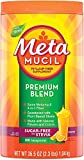 Metamucil Premium Blend Fiber, 180 Servings, Psyllium Husk Fiber Powder Supplement, Sugar Free with Stevia, Natural Orange Flavor, 6 Month Supply