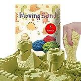 CROSOFMI Arena Magica Niños Super Cinética Color Sand Playa Juegos para Niños Chico Chica Mayores de 3 Años(Natural)