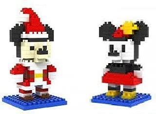 Loz DIY Diamond Blocks 2 sets in 1 Mini Figures 190pcs Mickey Mouse and 180pcs Mini Mouse Dressed Up As Santa Cute Nano-Blocks Toy Set