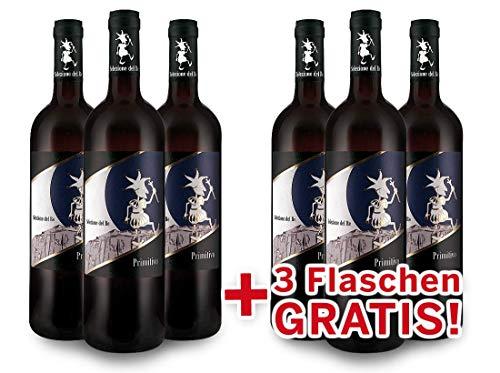 Torrevento Primitivo Selezione del Re IGT - Italien-Apulien Vorteilspaket 6 für 3 (6x 0,75l) Rotwein trocken