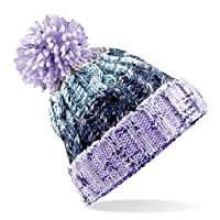 Beechfield Unisex Adults Corkscrew Knitted Pom Beanie Hat 10