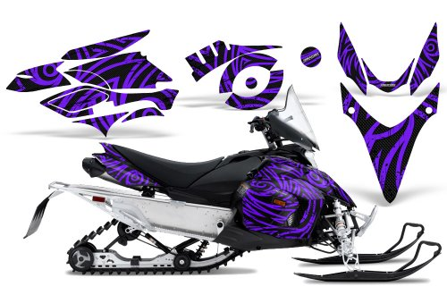 CreatorX Graphics Kit Decals Stickers for Yamaha Phazer Rtx Gt Mtx Snowmobile Sled TribalZ Purple