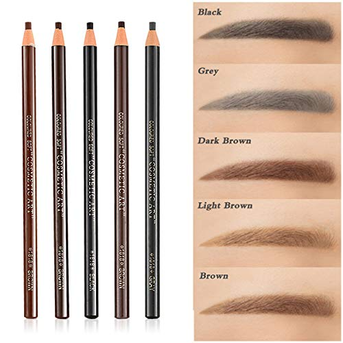 5pcs 5 Colors Peel-Off Eye Brow Pencil Set For Drawing Marking Eye Brow Pencil Pen Eyebrow Makeup Cosmetics Tool