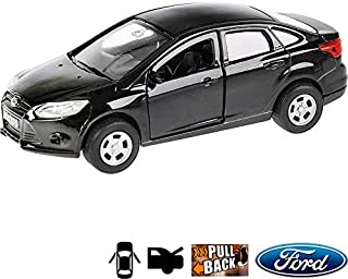 1:36 Scale Diecast Metal Model Car Ford Focus Sedan Russian Die-cast Toy Cars