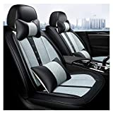 YZU (Avant + arrière) Housses de siège d'auto universelles pour Sonate Elantra Tucson Highlander Corolla Prius Altima Rogue Cadillac SRX Chevrolet Malibu Protection de la Voiture,5