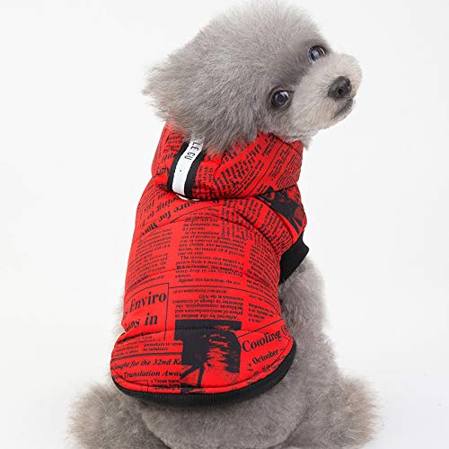 Haustierbaumwollkleidung Modische Hundekleidung Englische Kleidung Weste Herbst Und Winter Dicke Warme Kleidung S