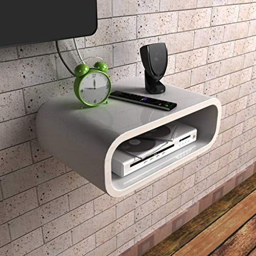 ALIZJJ Router WiFi Cajas de almacenamiento Estante Estante montado en la pared Cable Enchufe de alimentación Alambre Soporte for colgar en la pared Rack Organizador de cables for el hogar y la oficina