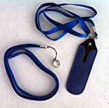 JoMobile EGO Necklace Lanyard with Faux Leather Pouch for eGo-t,eGo-w,eGo-c eGo-F , eGo Twist, eCig- BLUE